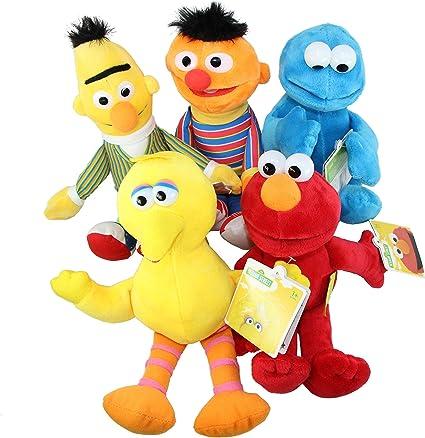 Amazon Com Sesame Street 5 Piece 25 Cm Plush Soft Toy Set