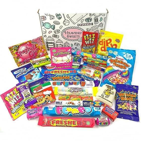 Surtido de Caramelos Retro Ingleses | Pack de golosinas retro | Gominolas Caja de Regalo|