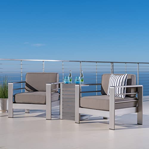 GDFStudio Crested Bay Patio Furniture Outdoor Aluminum Patio Chair