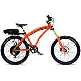 Prodeco V3 Outlaw SS Speed Electric Bicycle, Candy Orange Metallic, 26-Inch/One Size