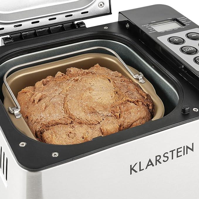 KLARSTEIN Krümelmonster Panificadora (550W de Potencia, Capacidad ...