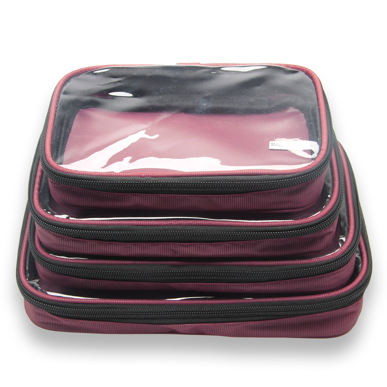 on sale Damero 4pcs Clear Toiletry Bag Packing Cubes 6a3fa0124587c