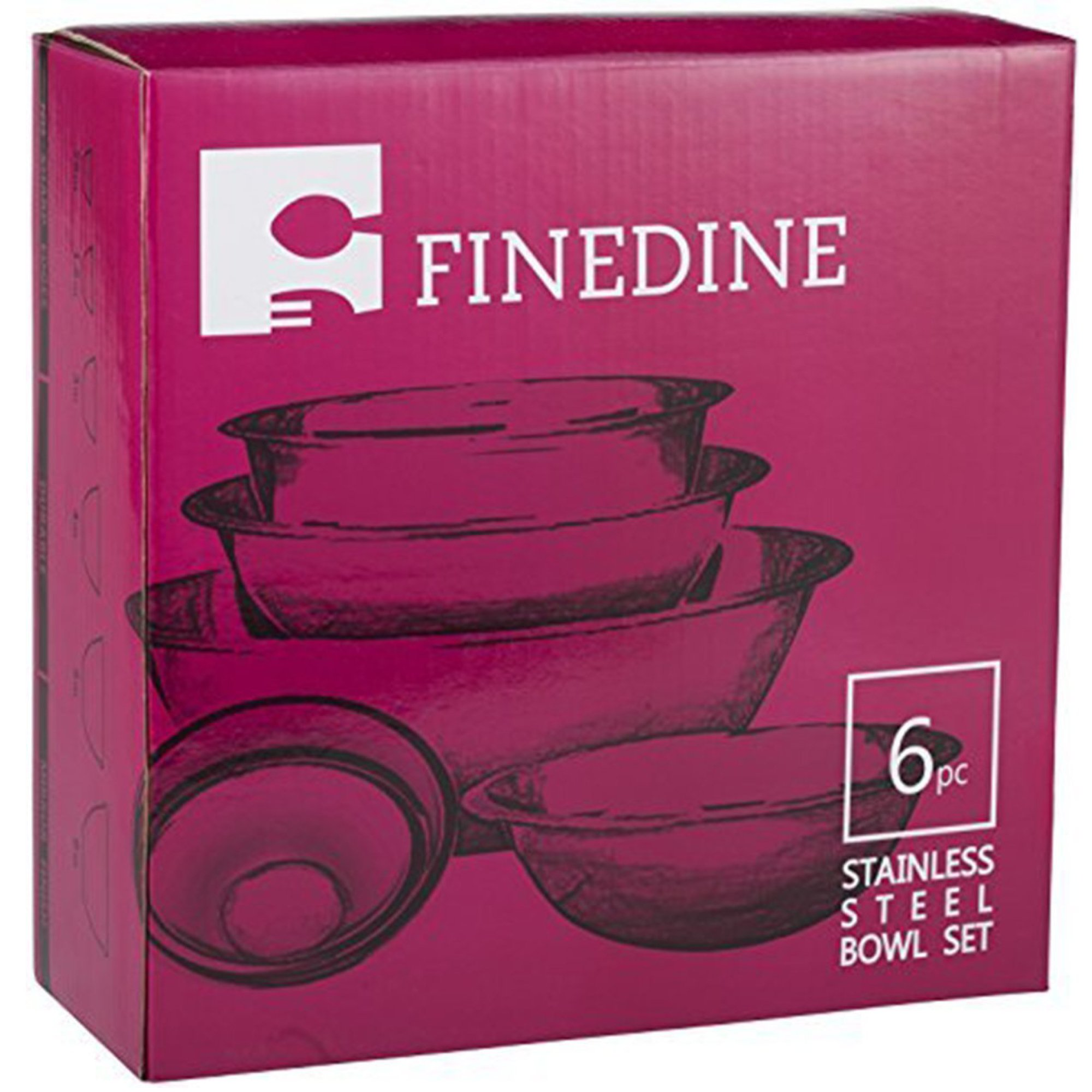 Stainless Steel Mixing Bowls by Finedine (Set of 6) Polished Mirror Finish Nesting Bowl, ¾ - 1.5-3 - 4-5 - 8 Quart - Cooking Supplies by FINEDINE (Image #7)