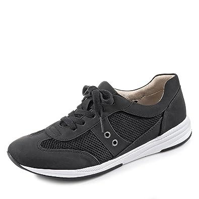 wholesale price best place arrives Jenny Granville Stylische Damen Sneaker Schwarz, Synthetik, Fußbett, Extra  Weite H, 1336137/36