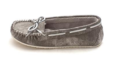 Frauen Twill Junior Trapper Moccasins Silber Groesse 9 US/40 EU Minnetonka Verkauf Schnelle Lieferung NlZJ0z