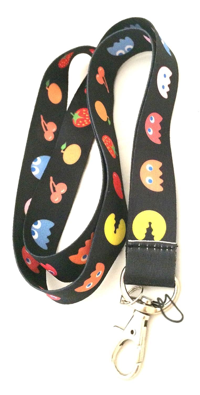 Pac-Man Anime moda cordón llavero titular: Amazon.es: Coche ...