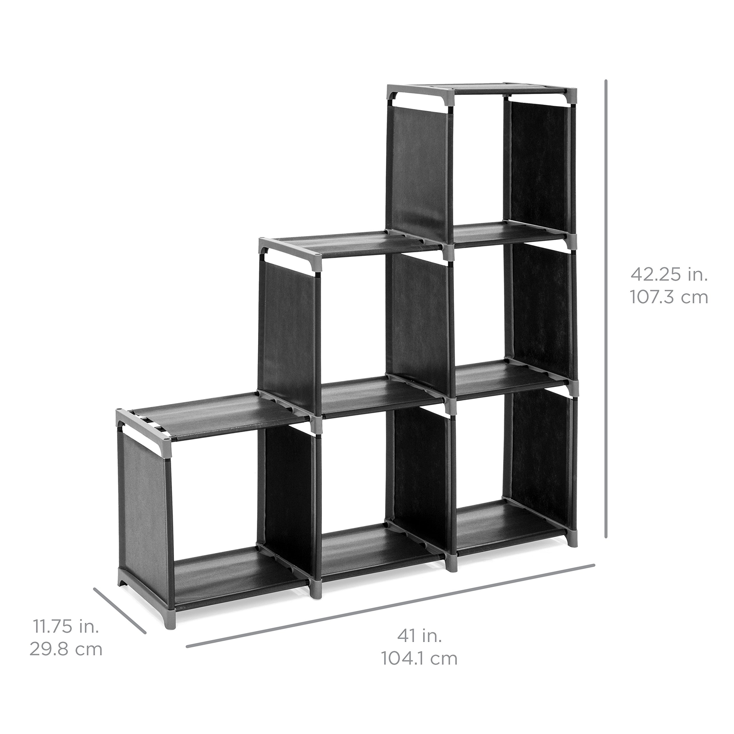 Best Choice Products 6-Drawer Multi-Purpose Shelving Cubby Storage Cabinet (Black) by Best Choice Products (Image #6)