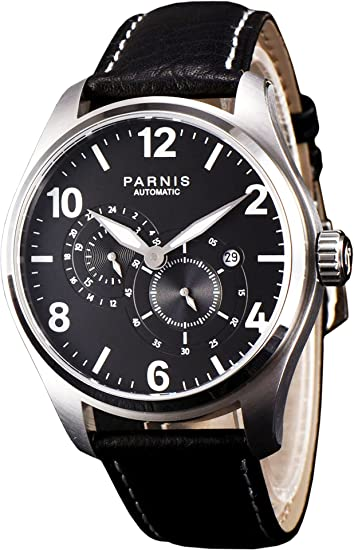PARNIS 2150 clásico de hombre automático reloj con 44 mm Caja de acero inoxidable brillan Miyota de reloj de calibre 8219 kratzfestes Cristal de zafiro C1 ...