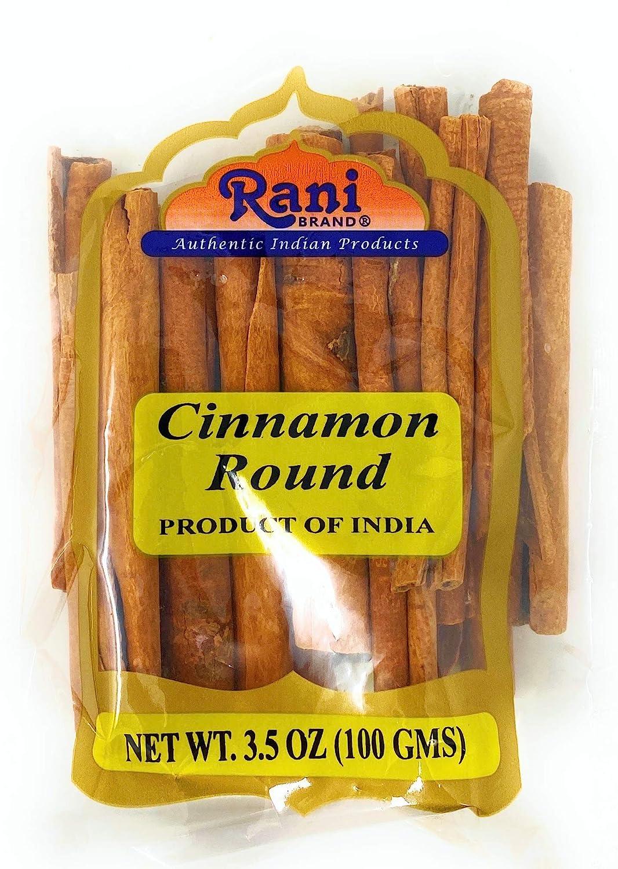 Rani Cinnamon Sticks 3.5oz (100g) ~ 11-13 Sticks 3 Inches in Length Cassia Round ~ All Natural | Vegan | No Colors | Gluten Free Ingredients | NON-GMO