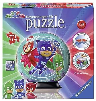 Ravensburger - Puzzle Ball 3D 72 Piezas, PJ Masks (11797)