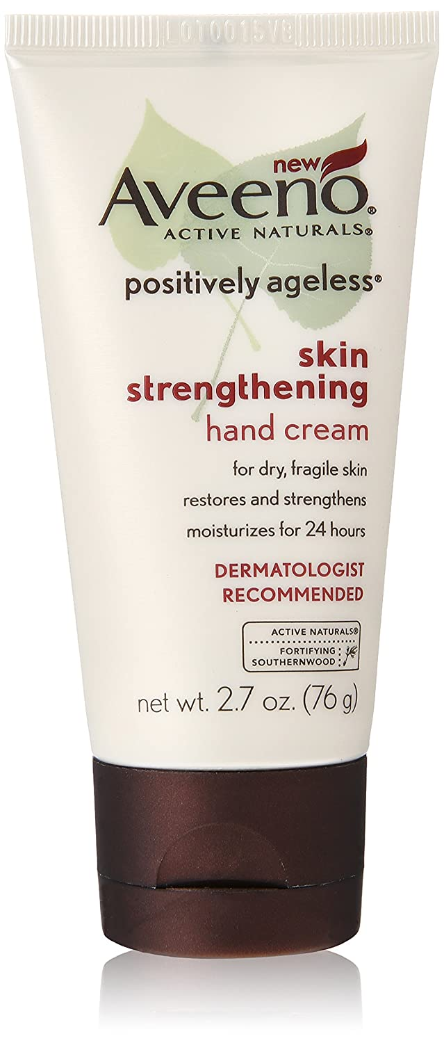 Aveeno Positively Ageless Skin Strengthening Hand Cream, 2.7 Ounce (Pack of 3) 381371023684