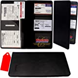 Zzteck Car Registration and Insurance Holder - PU Leather Vehicle Glovebox Visor Organizer Wallet for Auto Paperwork…
