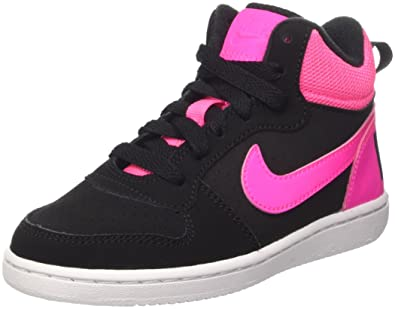 6044cbbe197d Nike Court Borough Mid (PS) - Baskets Fille, Noir, 28.5: Amazon.fr ...