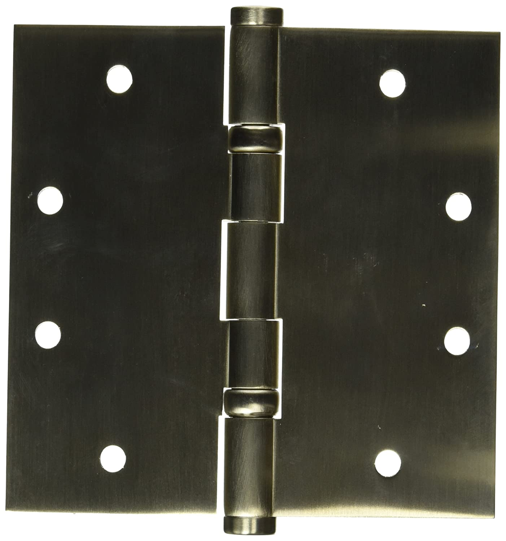 Baldwin 1046056INRP Square Ball Bearing Mortise Hinge Non Removable Pin Lifetime Satin Nickel Top Notch Distributors Inc. Home Improvement