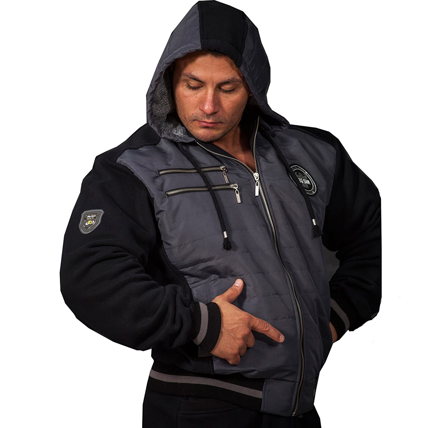 BIG SAM SPORTSWEAR COMPANY Bodybuilding Mens Sweatjacket Sweater Sweatshirt Hoodie 3584
