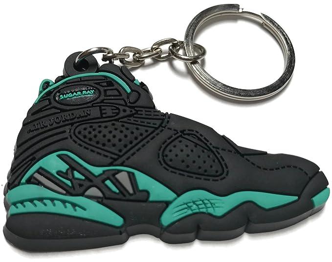 separation shoes fefaa bdc64 Air Jordan Retro 8 Black Green Shoe Keychain Collectables ...