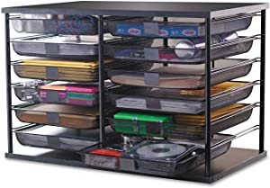 Rubbermaid 1735746 12-Compartment Organizer with Mesh Drawers 23 4/5-Inch x 15 9/10-Inch x 15 2/5-Inch Black