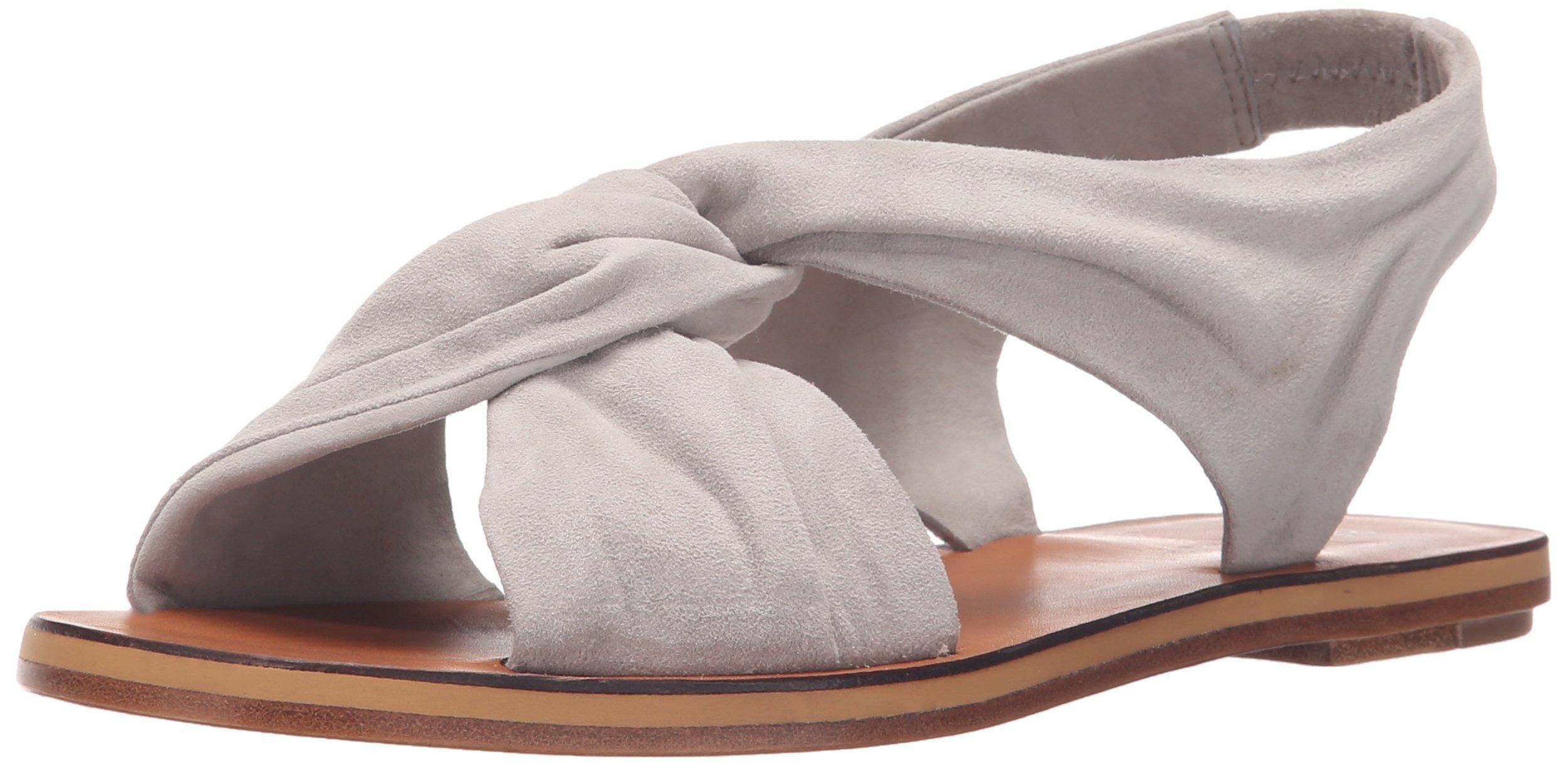 10 Crosby Women's Pell Dress Sandal, Grey Fine Suede, 7.5 M US