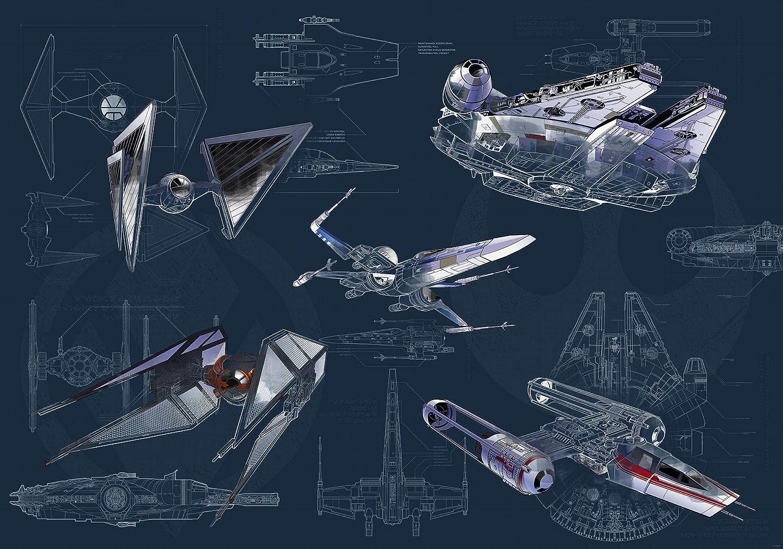 Komar Star Wars - Papel pintado fotográfico, Fieltro, Blau, Grau ...