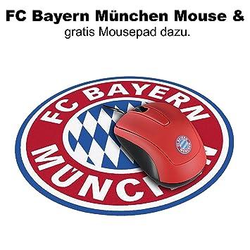 FC Bayern München Snappy Mouse / Maus mit 1200 dpi und 1,5 m Kabel ...