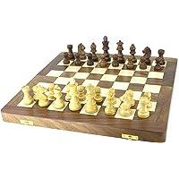 "VA Wooden Folding Chess Board Made of Sheesham Wood (16"" x 16"")"
