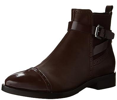 9bb11dfece408 Geox Women's Donna Brogue C Ankle Boots, Rot (DK BURGUNDYC7357), 35 M