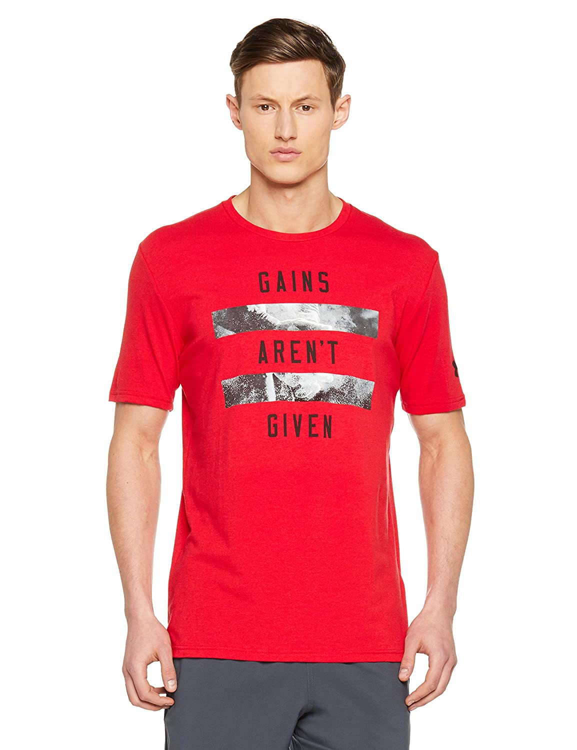 TALLA M. Under Armour Gains Arent Given SS Camiseta de Manga Corta, Hombre