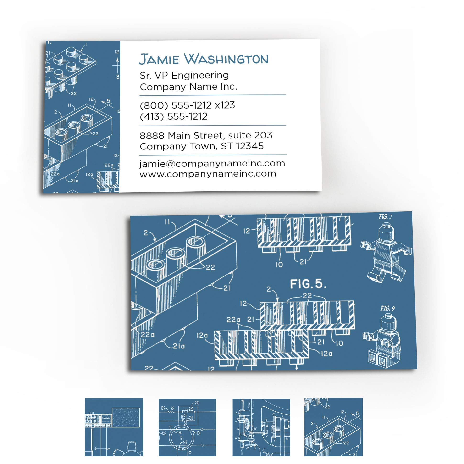 Buttonsmith Custom Ultra Thick Printed Business Cards - 3.5''x2'' - Quantity 500 - Double-Sided, 32 pt Smooth Touch Black Edge - Blueprints Appointment - Made in The USA
