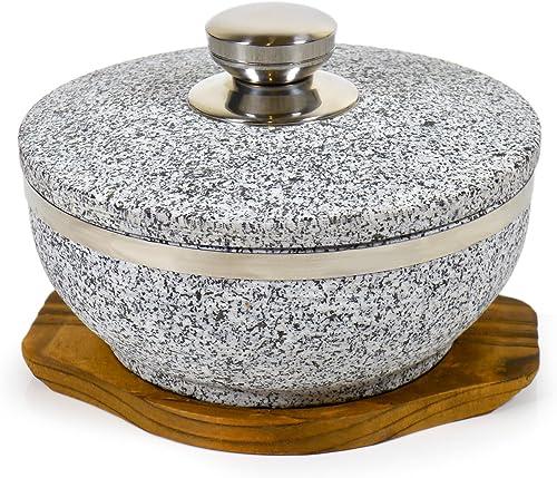 Spiceberry Home Large Granite Dolsot/Haradha Bowl