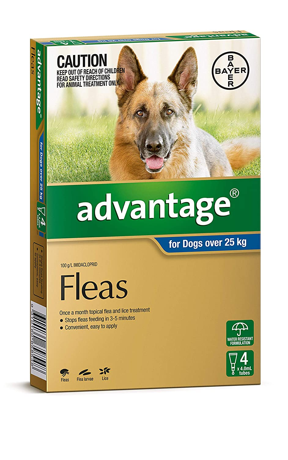 Advantage Flea Treatment for Dog Over 25kg, Pet Meds, Pack of 4