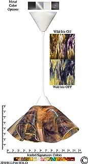 product image for Jezebel Signature Lily Pendant Large. Hardware: White. Glass: Wild Iris