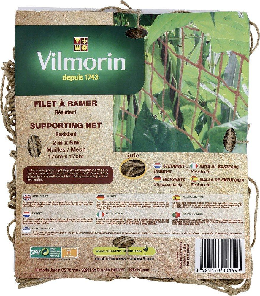Vilmorin VH00088 Filet /à Ramer Maill/é 17 x 17 cm 200 g//m/² 2 x 5 m