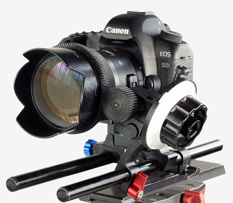 FILMCITY DP500 DSLR Follow Focus FC-DP500 for 15mm Rail Rod Support Video Movie Film Nikon Sony Canon Panasonic Camera