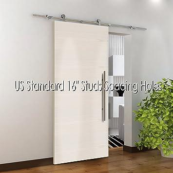 Amazon 787 Modern Stainless Sliding Wood Barn Door Hardware
