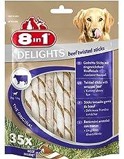 8in1 Delights Beef, gesunder Kausnack für sensible Hunde, hochwertiges Rindfleisch eingewickelt in Rinderhaut, versch. Varianten