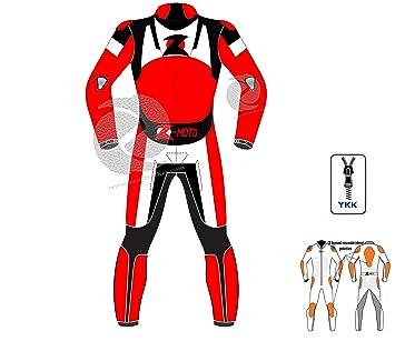 zens Leathers - Traje de piel para moto (piel perforada en ...