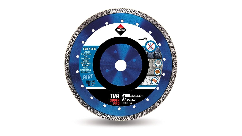 Rubi 31932 Disco Diamante Material Duro Turbo Viper 115 mm SuperPro Gris TVA