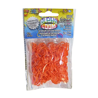 Rainbow Loom Alpha Bands Craft Accessory, Orange: Toys & Games