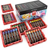 Arteza Acrylic Paint, Set of 60 Colors/Tubes (22 ml/0.74 oz) with Storage Box, Rich Pigments, Non Fading, Non Toxic Metallic
