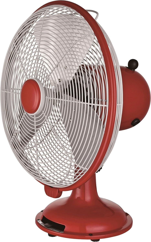 Q Standard 46015 12 Red Retro Desk Fan