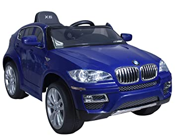 Coche eléctrico para niños 12V con mando - BMW X6 - Con licencia original y MP3