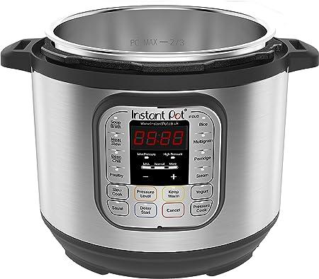 Instant Pot IP - DUO60, Olla de presión programable 7 en 1, 5.7L / 1000W 220V, tecnología de tercera generación, bol de cocina y exterior en acero inoxidable - versión inglesa: Amazon.es: Hogar