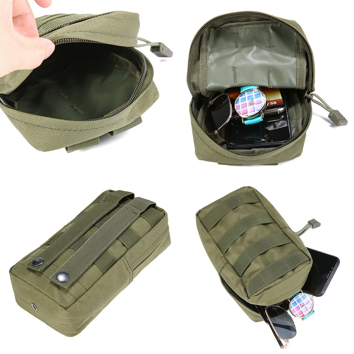 Black FUNTOK Senderismo Paquetes de Cintura Pouch Pockets Outdoor Sports Utility Gadget Gear Hanging Waist Bags /…