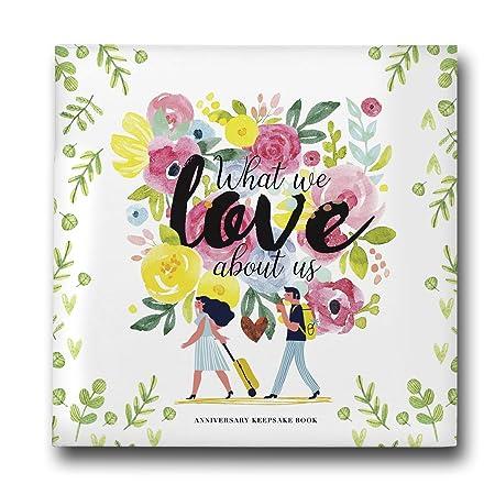Nuestro primer diario de aniversario de boda: libro de ...