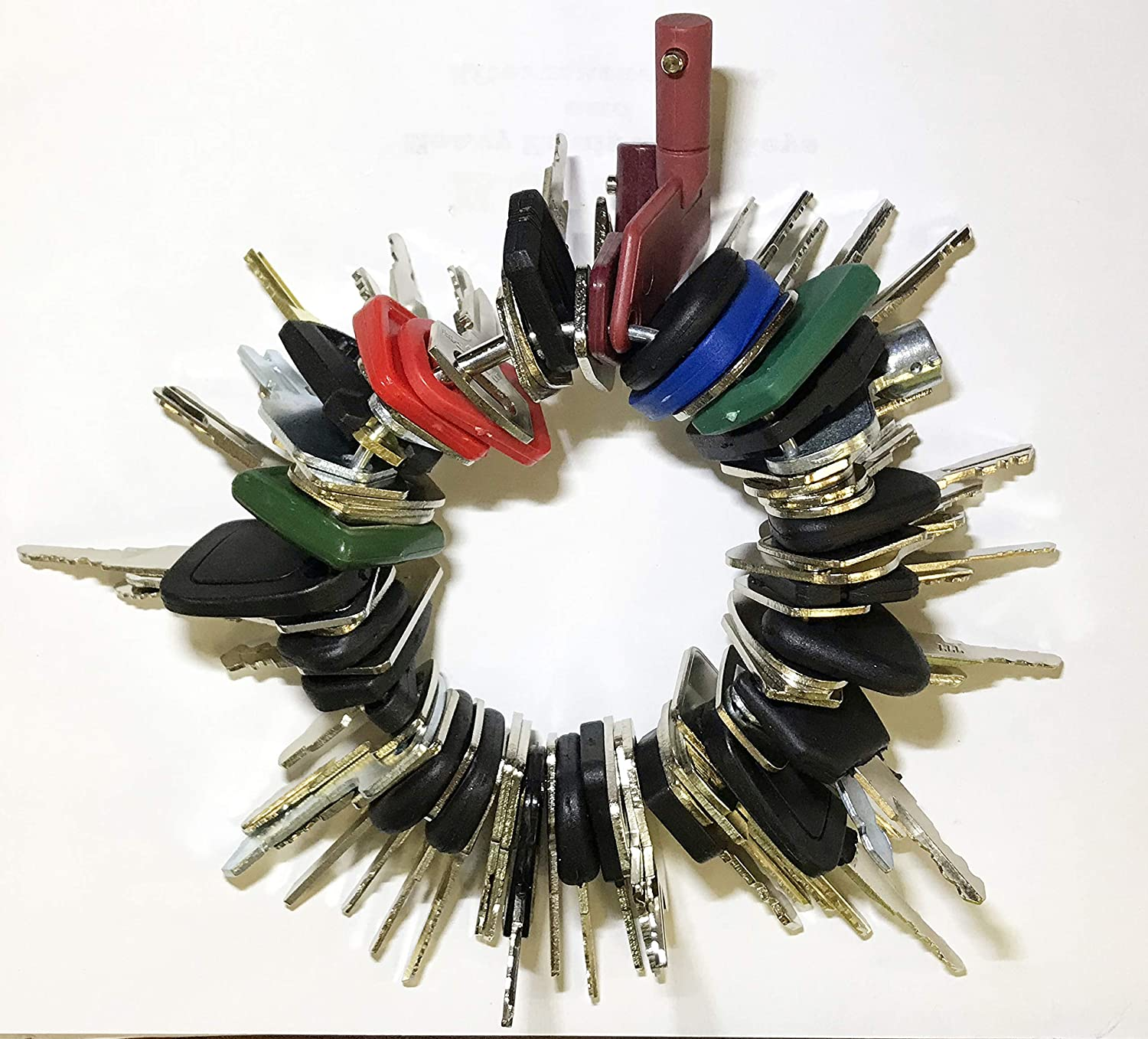 Keyman 70 Keys Heavy Equipment 70 Key Set/Construction Ignition Keys Set