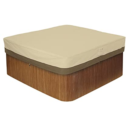 Hot tube cover by Classic Accessories Veranda Square Tub