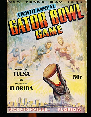 1953 Gator Bowl Program Tulsa vs Florida at Amazon's Sports ...
