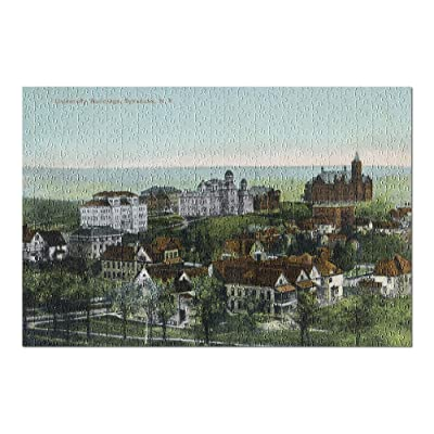Syracuse, New York - Panoramic View of The University and Grounds (Premium 500 Piece Jigsaw Puzzle for Adults, 13x19, Made in USA!): Toys & Games
