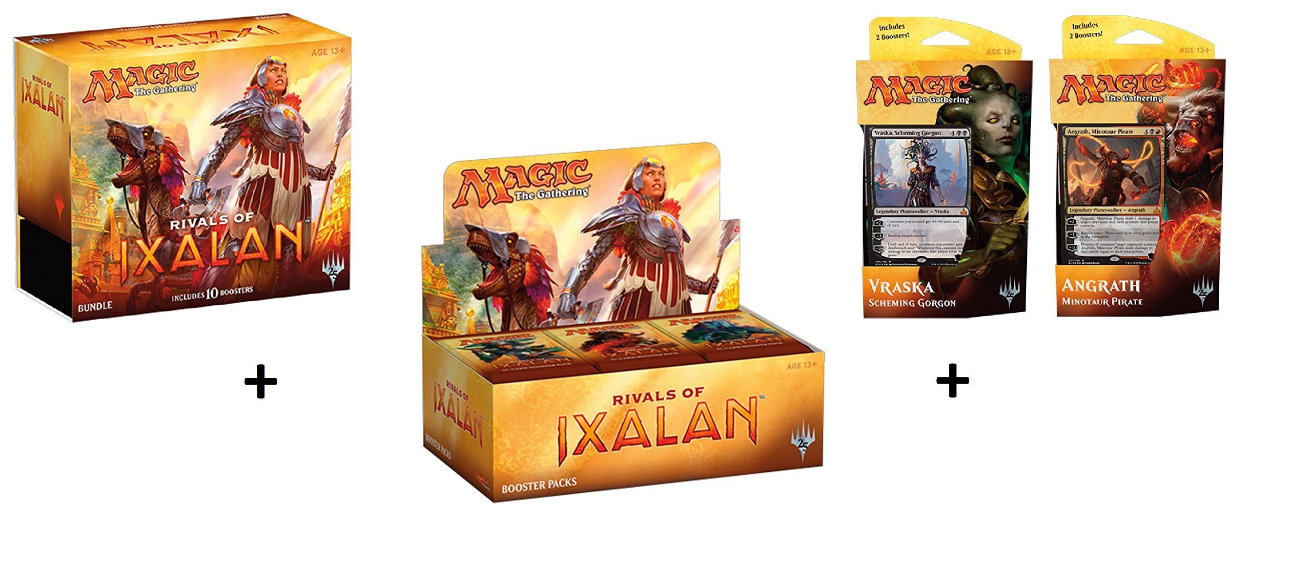 Magic the Gathering (MTG): Rivals of Ixalan Booster Box + Bundle (Fat Pack) + Both Planeswalker Decks! MTG Variety Pack Perfect for Collectors