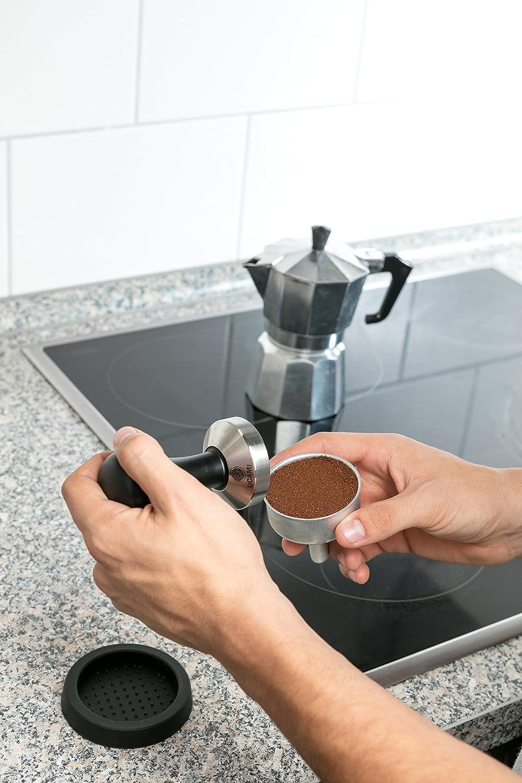 51 mm Prensador de caf/é Ucami m/ás estera negro